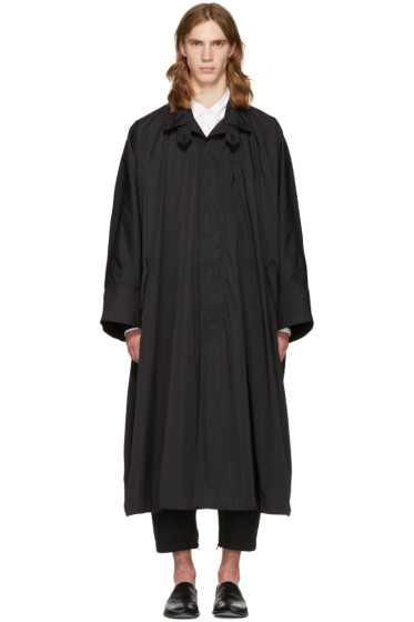 Issey Miyake Men - Black Oversized Trench Coat