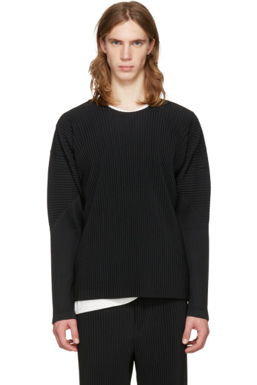 Homme Plissé Issey Miyake - Black Classic Pleats Long Sleeve T-Shirt