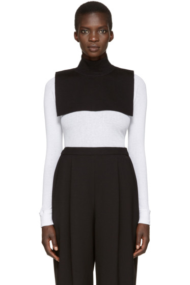 Enfold - Black Wool Turtleneck Collar