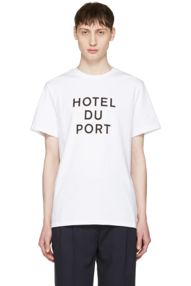 Éditions M.R  - White 'Hotel du Port' T-Shirt