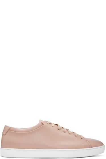 John Elliott - Pink Leather Low Sneakers