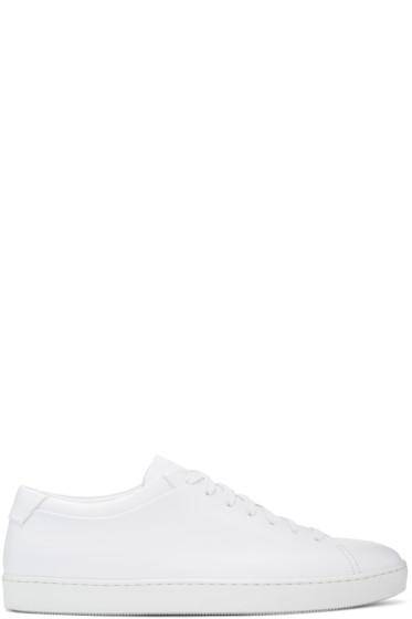 John Elliott - White Leather Low Sneakers
