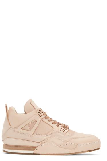 Hender Scheme - Beige Manual Industrial Products 10 High-Top Sneakers