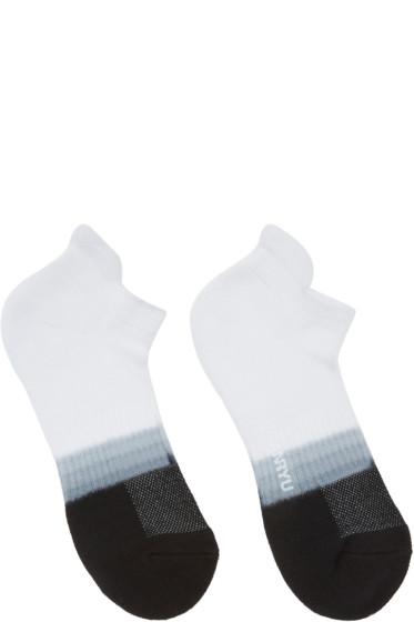 Ganryu - White & Black Tie-Dye Socks