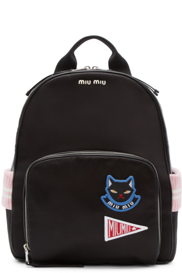 Miu Miu - Black Satin Cat Backpack