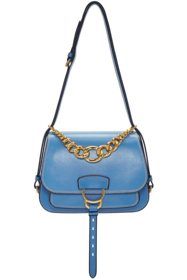 Miu Miu - Blue Large Dalia Satchel