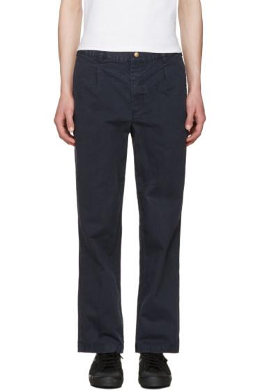 Noah NYC - Navy Chino Trousers