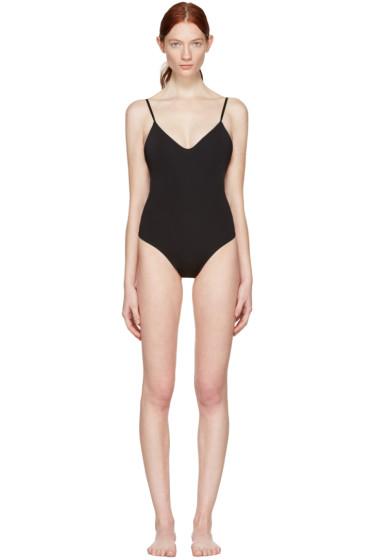Land of Women - Black Low Back Thong Bodysuit