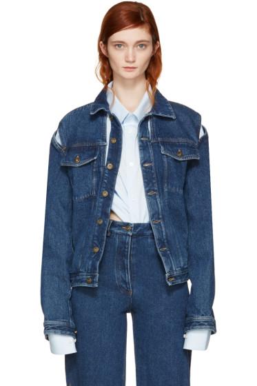 Y/Project - Navy Denim Cut-Out Jacket