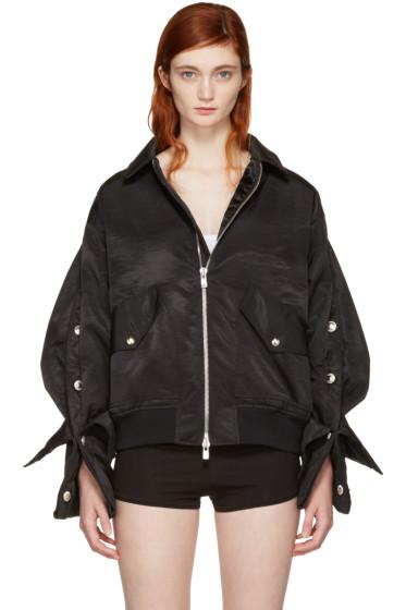 Y/Project - Black Popper Bomber Jacket