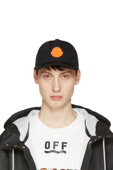 Moncler O - Black Berretto Baseball Cap