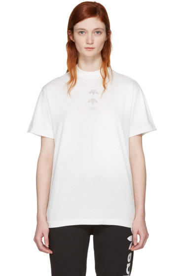 adidas Originals by Alexander Wang - White Logo T-Shirt