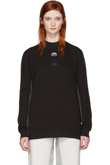 adidas Originals by Alexander Wang - Black Long Sleeve Logo T-Shirt