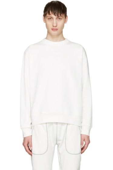 adidas Originals by Alexander Wang - White Logo Crew Sweatshirt