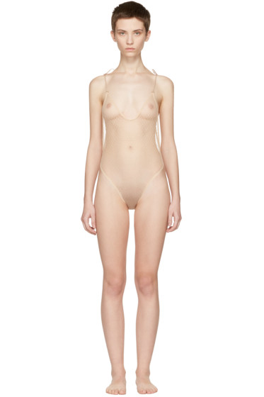 Le Petit Trou - Beige Apollonia Bodysuit