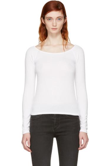 Rag & Bone - White Oasis Off-the-Shoulder T-Shirt