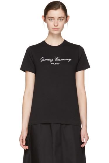 Opening Ceremony - SSENSE Exclusive Black Original Script T-Shirt