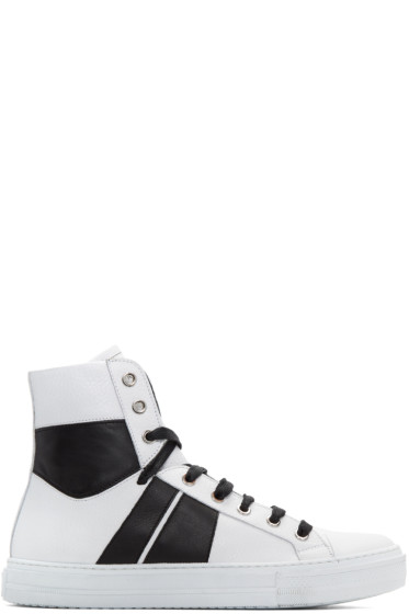 Amiri - White & Black Sunset High-Top Sneakers