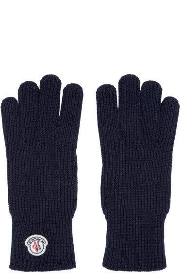 Moncler - Navy Knit Gloves