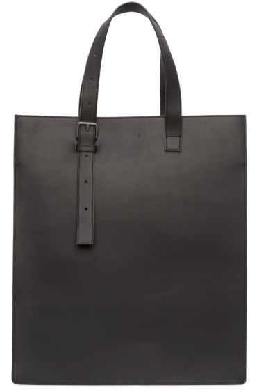 PB 0110 - Black Leather AB 25 Tote Bag