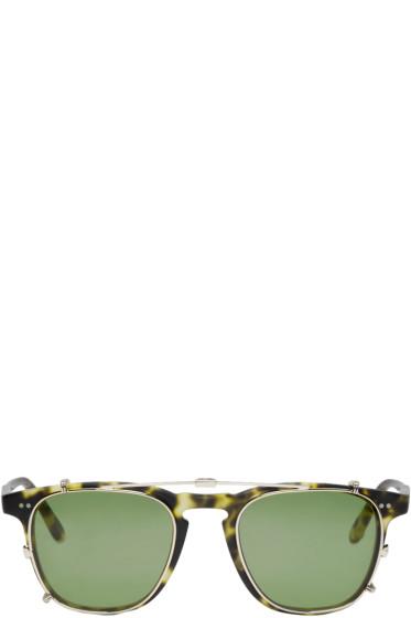 Garrett Leight - Tortoiseshell Clip-On Brooks Glasses