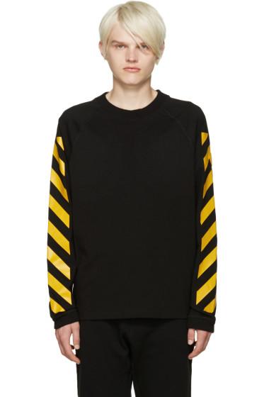 Moncler O - Black Striped Sleeves T-Shirt