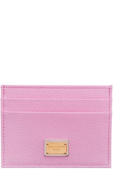 Dolce & Gabbana - Pink Leather Card Holder