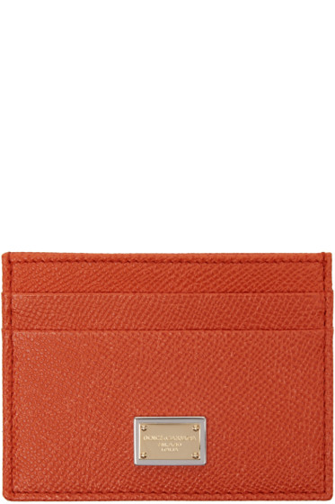 Dolce & Gabbana - Orange Leather Card Holder