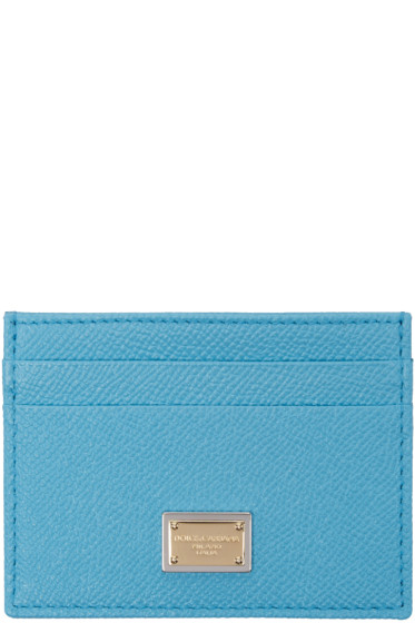 Dolce & Gabbana - Blue Leather Card Holder