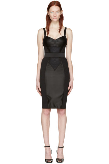 Dolce & Gabbana - Black Bustier Dress