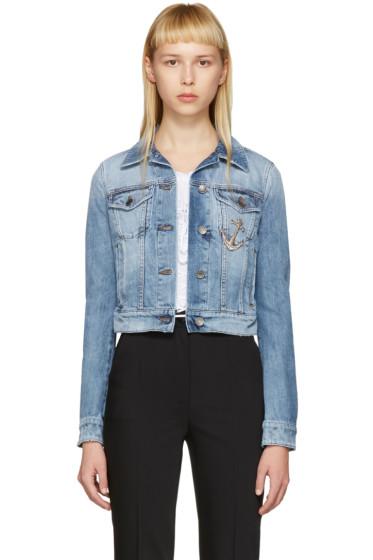 Dolce & Gabbana - Blue Denim Anchor Jacket