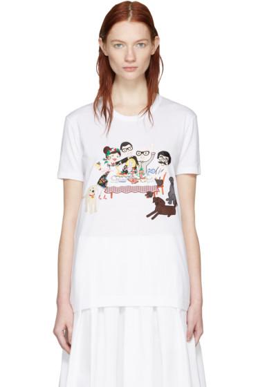 Dolce & Gabbana - White Family T-Shirt