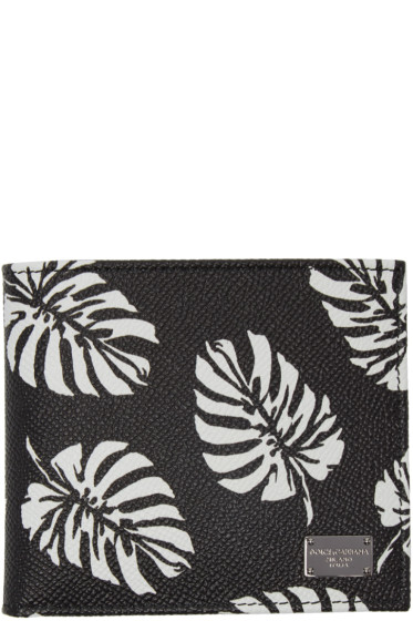 Dolce & Gabbana - Black Leaves Wallet