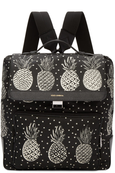 Dolce & Gabbana - Black Pineapple Backpack