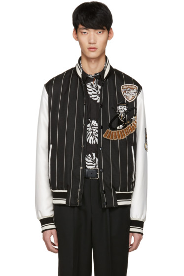 Dolce & Gabbana - Black Piano Man Varsity Jacket