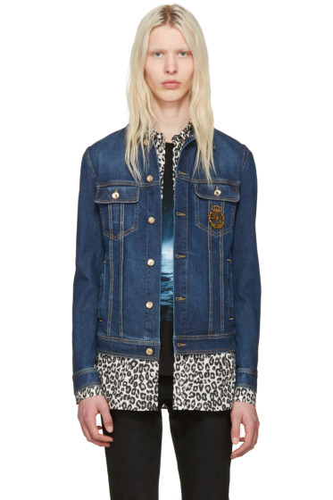 Dolce & Gabbana - Blue Denim Crown Jacket