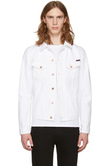 Nudie Jeans - White Billy Worn Denim Jacket