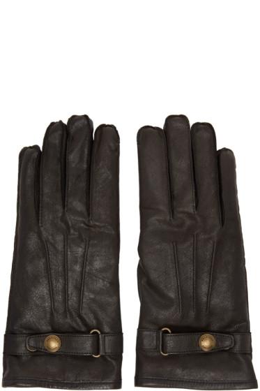 Belstaff - Black Leather Heyford Gloves