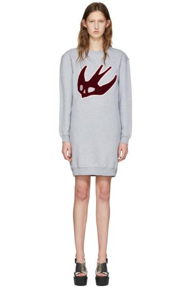 McQ Alexander McQueen - Grey Varsity Swallow Dress