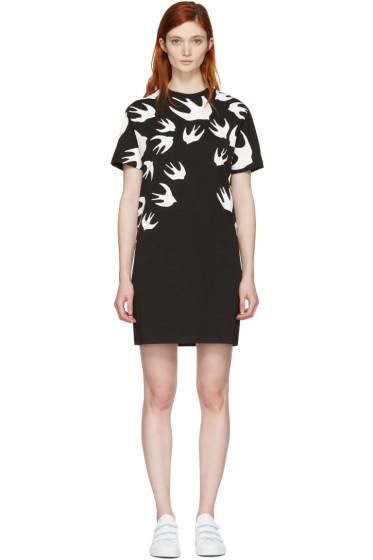 McQ Alexander McQueen - Black Swallows T-Shirt Dress