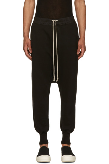 Rick Owens Drkshdw - Black Fleece Prisoner Drawstring Lounge Pants