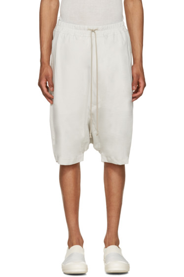 Rick Owens Drkshdw - Off-White Jersey Pods Shorts