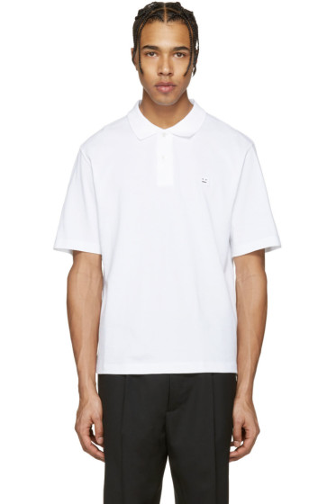 Acne Studios - White Falco Face Polo