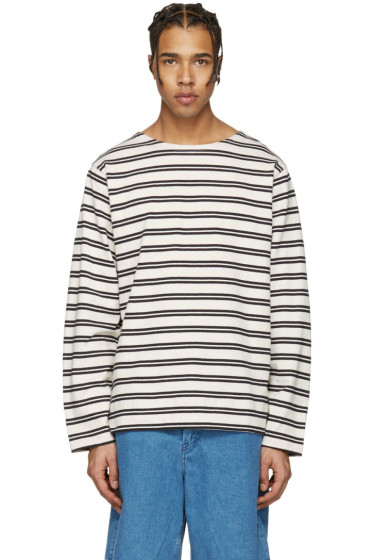 Acne Studios - Ecru Striped Nimes T-Shirt