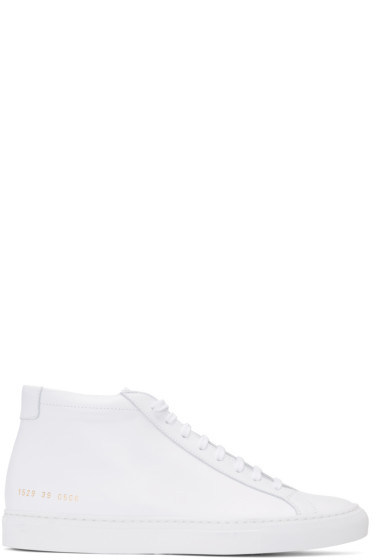 Common Projects - White Original Achilles Mid Sneakers