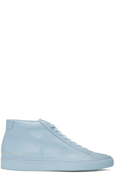 Common Projects - Blue Original Achilles Mid Sneakers