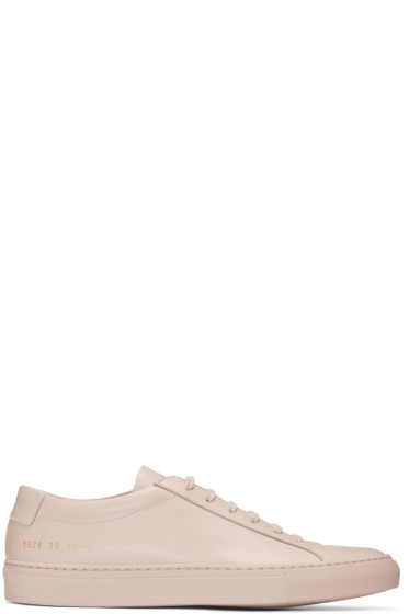 Common Projects - Pink Original Achilles Low Sneakers