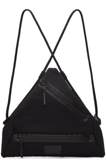 Y-3 - Black Neoprene Qasa Triangle Backpack