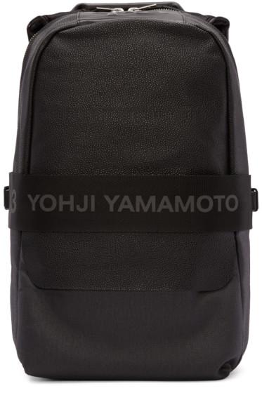 Y-3 - Black Leather Qasa Backpack