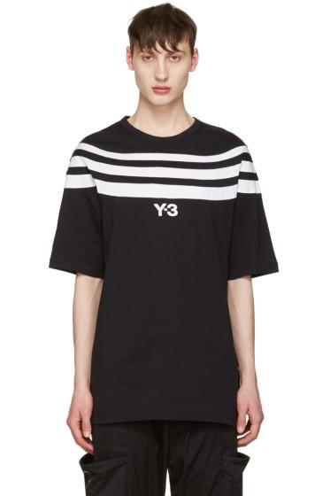 Y-3 - Black Three Stripe T-Shirt